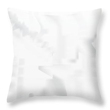 City Stair Throw Pillow