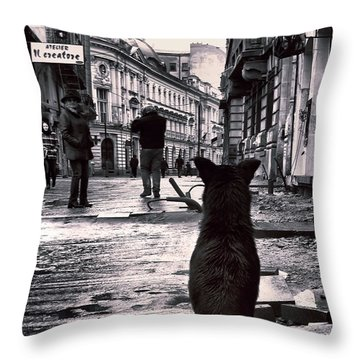 City Streets And The Theory Of Waiting Throw Pillow