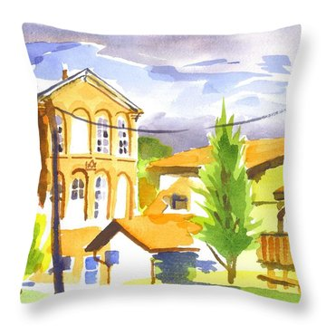 City Streets II Throw Pillow by Kip DeVore