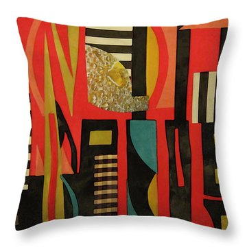 City Sunset Throw Pillow by Mary Bedy