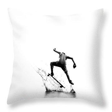 City Surfer Throw Pillow