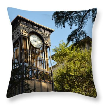 City Time  Throw Pillow