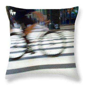 City Travels Throw Pillow by Karol Livote
