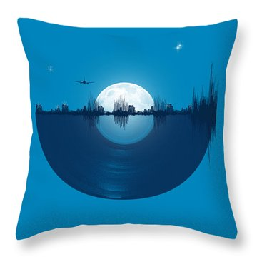 City Tunes Throw Pillow