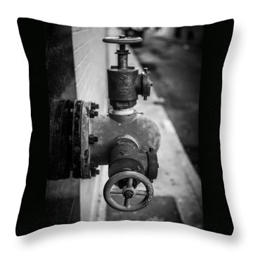 City Valves Throw Pillow