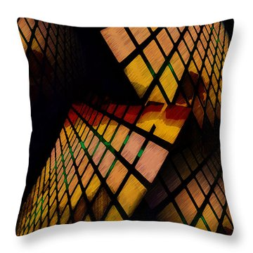 City View Abstract Throw Pillow