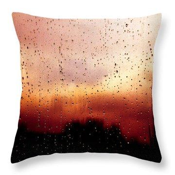 City Window Throw Pillow by Bob Orsillo