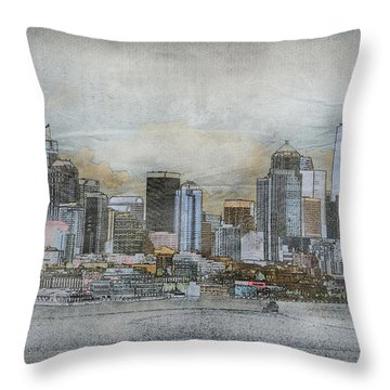 Cityscape Throw Pillow by Davina Washington