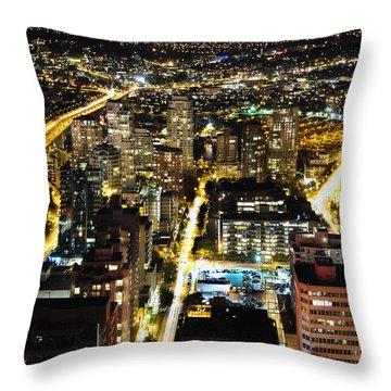 Cityscape Golden Burrard Bridge Mdlxiv Throw Pillow