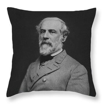 Civil War General Robert E Lee Throw Pillow