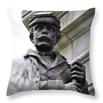 Civil War Memorial Throw Pillow