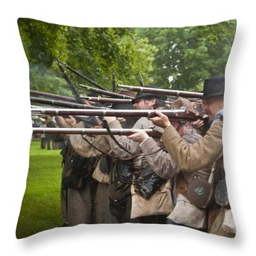 Civil War Reenactment 1 Throw Pillow