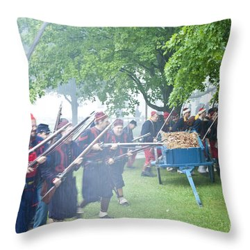 Civil War Reenactment 2 Throw Pillow