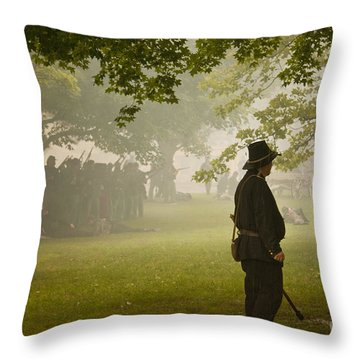 Civil War Reenactment 3 Throw Pillow