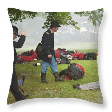Civil War Reenactment 4 Throw Pillow
