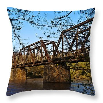 Civil War Trestle Throw Pillow