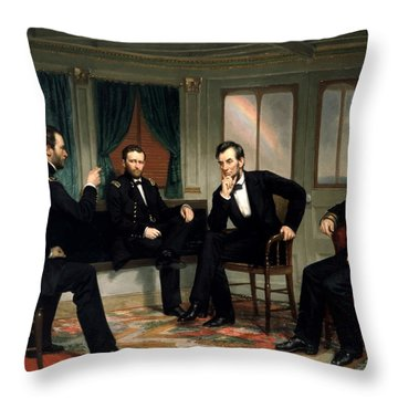 Civil War Union Leaders -- The Peacemakers Throw Pillow by War Is Hell Store