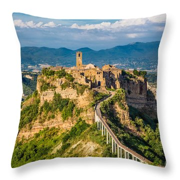 Civita Di Bagnoregio Throw Pillow