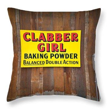 Clabber Girl Throw Pillow