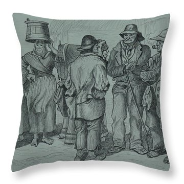 Claddagh People 1873 Throw Pillow