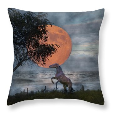 Claiming The Moon Throw Pillow