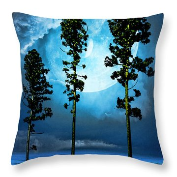 Clair De Lune Throw Pillow