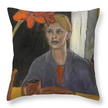 Claire's Amaryllis Throw Pillow