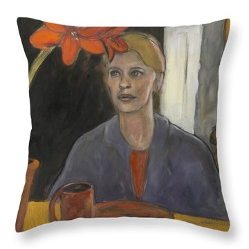 Claire's Amaryllis Throw Pillow