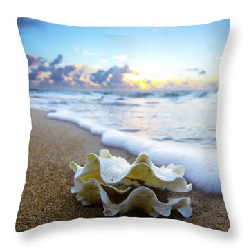 Clam Foam Throw Pillow by Sean Davey