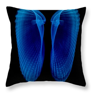 Clam Shells X-ray Throw Pillow by Bert Myers