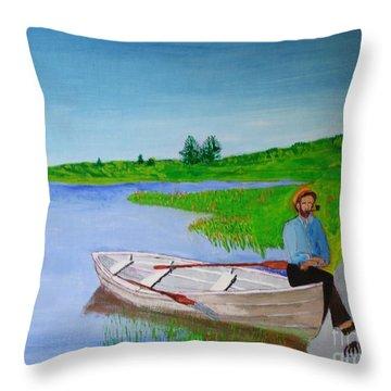 Clam Tucker Throw Pillow by Bill Hubbard