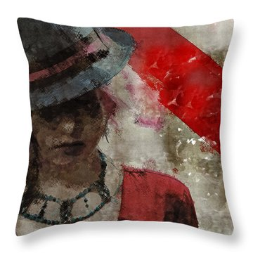 Throw Pillow featuring the digital art Clandestine by Galen Valle