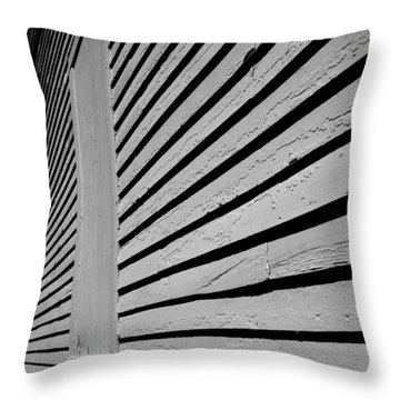 Clapboards Throw Pillow