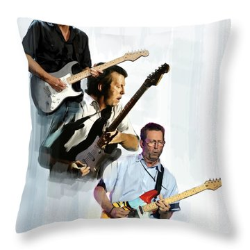 Clapton Eric Clapton Throw Pillow by Iconic Images Art Gallery David Pucciarelli