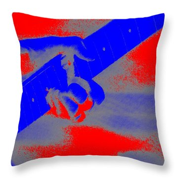 Clapton Plays Guitar Throw Pillow by George Pedro
