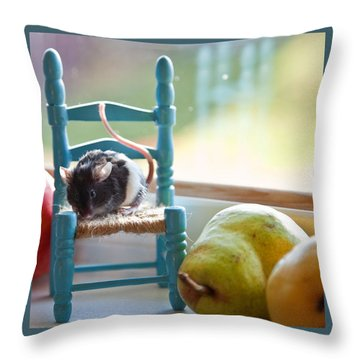 Clara's Favorite Chair Throw Pillow by Theresa Tahara