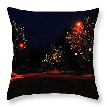 Clare Michigan At Christmas 12 Throw Pillow