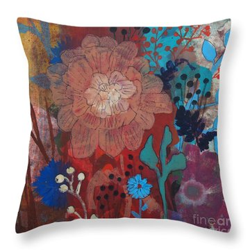 Throw Pillow featuring the painting Clarity by Robin Maria Pedrero