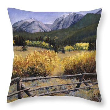 Clark Peak Throw Pillow