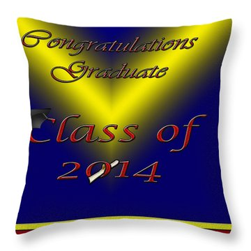 Class Of 2014 Card Throw Pillow