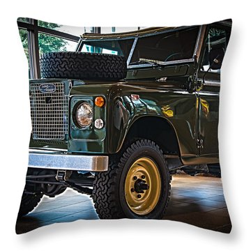 Classic 1969 Land Rover Series IIa Throw Pillow