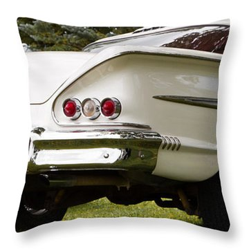 Throw Pillow featuring the photograph Classic American Car by Mick Flynn