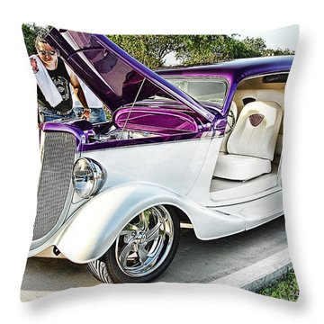 Throw Pillow featuring the photograph Classic Auto   by Dyle   Warren