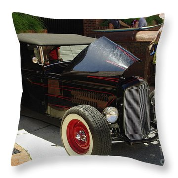 Classic Auto Show Throw Pillow by James C Thomas