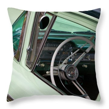 Throw Pillow featuring the photograph Classic Automobile Interior by Mick Flynn