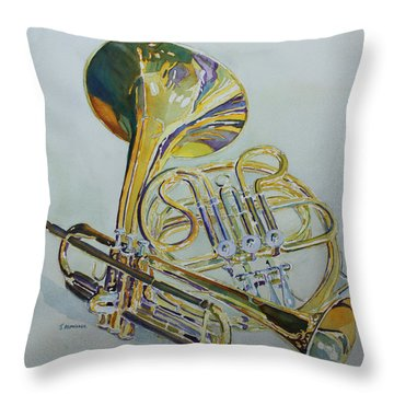 Classic Brass Throw Pillow