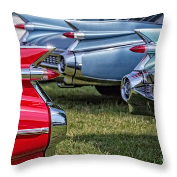 Classic Caddy Fin Party Throw Pillow by Edward Fielding