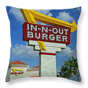 Classic Cali Burger 1.1 Throw Pillow