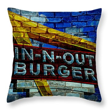 Classic Cali Burger 2.4 Throw Pillow by Stephen Stookey