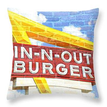 Classic Cali Burger 2.5 Throw Pillow